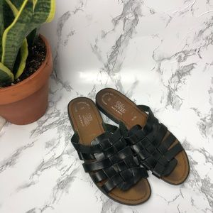Woven slide on sandals South Shore Leather size 8